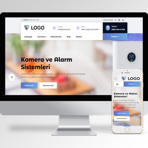 Kamera ve Alarm Sistemleri Teması v4